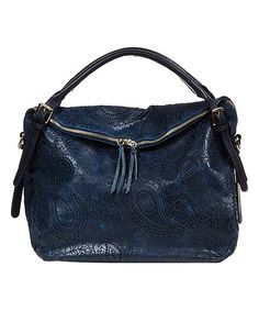 Blue Paisley Leather Hobo #zulily #zulilyfinds