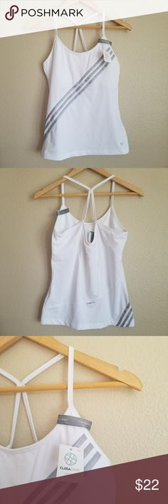 """⬇️PRICE DROP! NEW adidas strappy workout tank Measurements lying flat:  Bust: 17"""" Length:24""""  -Smoke-free home  -Reasonable offers welcome, but prices are firm on items under $10.  -No trades, please.  -All measurements are approximate.  Thank you for shopping my closet, it means a lot to me! adidas Tops Tank Tops"""