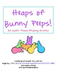 Σωροί από Peeps Bunny - Πάσχα ομοιοκαταληξίες Δραστηριότητα