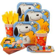 Peanuts Birthday Standard Tableware Kit Serves 8 - Party Supplies