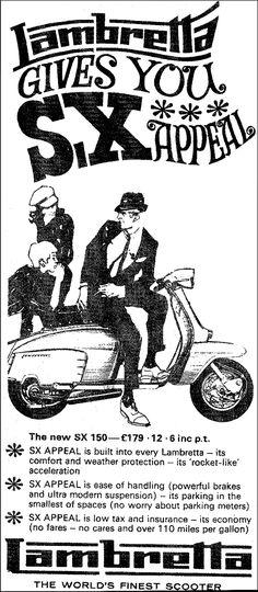 Lambretta Scooter ad, 1967.
