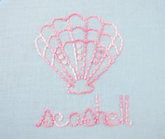 Seashells and Seahorses Hand Embroidery Pattern Packet #EasyNip