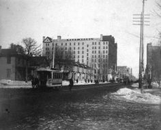 West Hotel looking down Hennepin from Seventh, Minneapolis