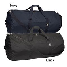 @Overstock - Everest 36-inch 600 Denier Polyester Rounded Duffel - Carry your essentials with ease i this durable duffel bag from Everest. Featuring 600-denier polyster and an adjustable shoulder strap, this 36-inch round duffel has a padded Velcro grab handle and a zippered main compartment for easy portability.    http://www.overstock.com/Luggage-Bags/Everest-36-inch-600-Denier-Polyester-Rounded-Duffel/6021935/product.html?CID=214117  $39.99