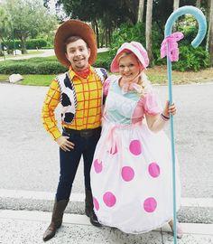 Woody and Bo Peep #WaltDisneyWorld #WDW #Disney #TheMostMagicalPlaceOnEart #MagicKingdom #MickeysNotSoScaryHalloweenParty #MNNSHP2015 #BoPeep #DelaneysDisneyObsession