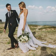 The Most Pinned Wedding Dress on Pinterest... #GLLbride Ally in our iconic HOLLIE gown. Recreate the look in our HOLLIE 2.0 #graceloveslace #theuniquebride 📷 by @benadamsweddings