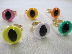 Cat Eye Rings. multi-pack of 6. $28.00, via Etsy.