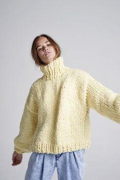 Loopy Mango - Her Turtleneck - Chunky Merino Wool Cozy Sweaters, Sweaters For Women, Loopy Mango, Knit Fashion, Mode Style, Look Cool, Hand Knitting, Knitwear, Knit Crochet