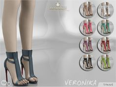 New stylish booties for your sim! Come in 9 colours (leather texture). Joints are perfectly assigned. All LODs are replaced with new ones.  Found in TSR Category 'Sims 4 Shoes Female'