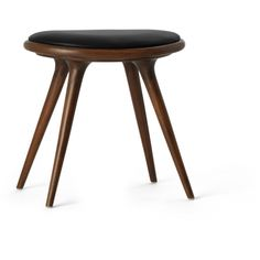 Dark Stained Premium Oak Low Space Stool