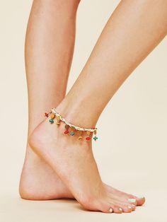 Beaded Ankle Bracelet