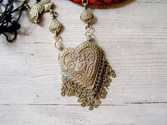 Antique India necklace world war II made of coins by MeshuMaSH, $250.00