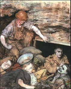 Austin Osman Spare, Operating in a Regimental Aid Post, 1918.