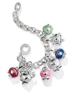 campanelle chantecler argento smalto ciondoli bracciali gioielli