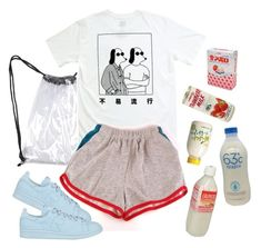"""milk addict"" by paper-freckles ❤ liked on Polyvore featuring adidas"