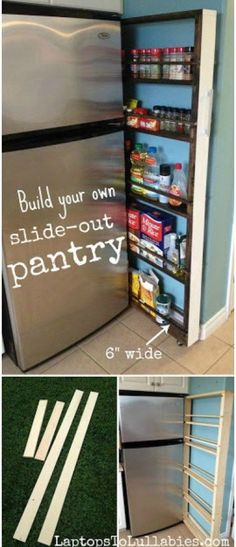 Build your own slide-out pantry {Heather's Handmade Life}