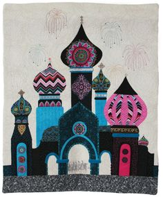 """""""The Great Gate of Kiev"""", 28""""  x 23"""", by Robin Gausebeck. 2014 Hoffman Challenge quilt - Applique Best First Time Entry"""