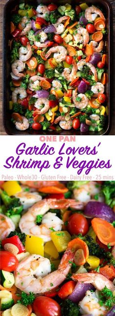 A garlic lover's dream! One pan and 25 minutes is all you need for this easy and delicious recipe! It's perfect for a quick weeknight meal. Paleo, low carb, keto, gluten free, dairy free.