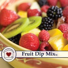 """An absolutely delicious """"sweet"""" dip for fruit. Just add water, cream cheese and whip. It tastes great with any fruit: apples, bananas, strawberries, pineapple, grapes, and oranges. They can be fresh o"""