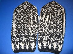 Selbu mittens- comes in hundreds of varieties, and is a old vernicular norwegian design Crotchet, Scandinavian Design, Mittens, Gloves, Photos, Knitting, Comme, Stitching, Tricot