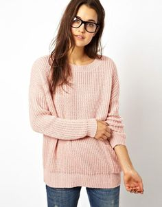 Asos Slouchy Jumper With Pocket on shopstyle.co.uk