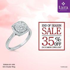 A statement cocktail ring in gold with diamonds for special occasion. http://bit.ly/2rCnT3t #TaraJewellers #Diamondjewellery #Certfieddiamonds #BIShallmarkedjewellery