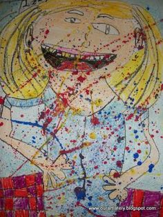 I ain't gonna paint no more! (book): drawing / splatter painting
