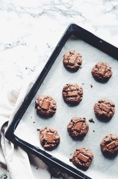 vegan and gluten-free salted double chocolate cookies