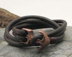 EXPRESS SHIPPING Unisex leather bracelet.Black and от eliziatelye