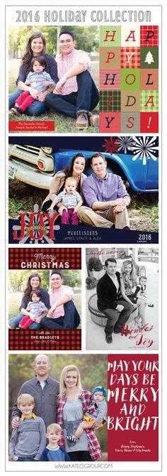 2016 Holiday Collection of Holiday Photo Cards by KateOGroup #HolidayCards #HolidayPhotoCards #ChristmasCards #ChristmasPlaid #WonderAndJoy #MerryAndBright  www.KateOGroup.com