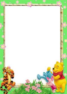 Marcos de Winnie Pooh bebé para fotos - Imagui Winnie The Pooh Pictures, Disney Winnie The Pooh, Pooh Bebe, Foto Frame, Free Printable Stationery, Boarders And Frames, Page Borders Design, Birthday Frames, Borders For Paper