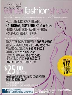Making a Difference in Welland #RoseCityKids Fashion Show Fundraiser please RT @davelackie or consider gift donation?