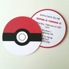 Pokémon Invitation Pack of 10 by bellybeancards on Etsy