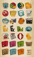 Artcore Icons Nr. 1 by ~artcoreillustrations on deviantART