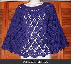 Elegant Lace Poncho  Joy- I want to make this for Harli, but it's an adult size.  How easy would it be to make it a smidge smaller???  =)