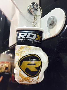 ‪#‎RDXSports‬ key ring displayed at ‪#‎fibo2015‬