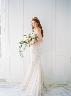 bridal wedding dresses - photo by Kurt Boomer http://ruffledblog.com/enchanted-garden-bridal-inspiration