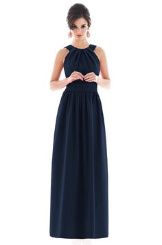 In love with this long bridesmaid dress!  Alfred Sung D493 Bridesmaid Dress | Weddington Way