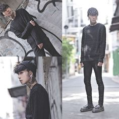Get this look: http://lb.nu/look/6790716 More looks by IVAN Chang: http://lb.nu/ivan Items in this look: Tastemaker 達新美 Black Cap, Topman Black Skinny Jeans, Dr. Martens Shoes #artistic #street #vintage