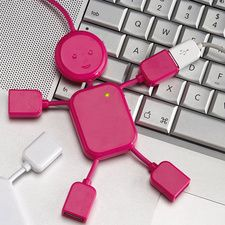 Pink Hubman! Perfect when you need to plug in multiple USBs at once | @currentcatalog1 $12.99