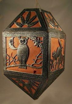Antique Halloween Embossed Cardboard Die Cut Diecut Lantern German 1920s | eBay