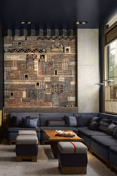 The Nobu Hotel Shoreditch is a contemporary hotel in London featuring architecture and interiors inspired by East Asian culture, art, design and philosophy. Designed by Studio MICA & Studio PCH. Hotel Lounge, Lobby Lounge, Hotel Lobby, Ace Hotel, London Hotels, Design Hotel, Lounge Design, Hotel Decor, Hotel Interiors
