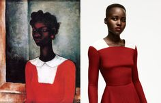Girl in the Red Dress (1934) x Lupita Nyong'o (2013)