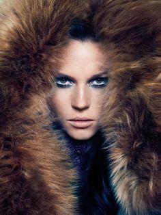 fur coat fashion -- fierce
