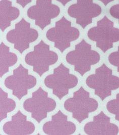 Blizzard Fleece Fabric - Moroccan Tile Lavender