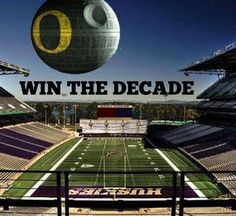 Washington Huskies....the Death Star that is Oregon is coming your way....but it won't be destroyed like it is in the movie, it will dominate the new Husky stadium! GO DUCKS, WTD! #OregonVsUW #HuskiesHateWeek