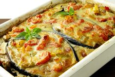 Cheesy Eggplant and Veggie Casserole 30 min. Eggplant Casserole Recipe, Vegetable Casserole, Greek Recipes, Veggie Recipes, Vegetarian Recipes, Chicken Recipes, The Kitchen Food Network, Bulgarian Recipes, Bulgarian Food