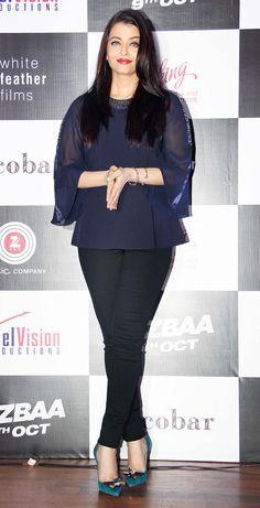 Aishwarya Rai Bachchan at the launch of song #Bandeyaa from her film #Jazbaa. #Bollywood #Fashion #Style #Beauty #Classy