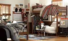 Room 119   PBteen...love the chair/lounge area within reach of refrig/food storage area!