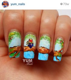 Girl in a tree nails